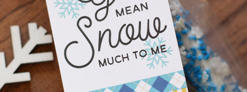 Printable Snowflake Tags + Dipped Pretzels