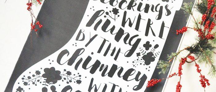 Christmas Stocking Engineer Print