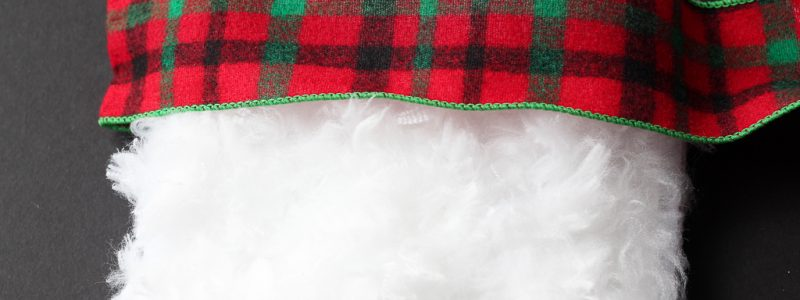 DIY Faux Fur Christmas Stockings
