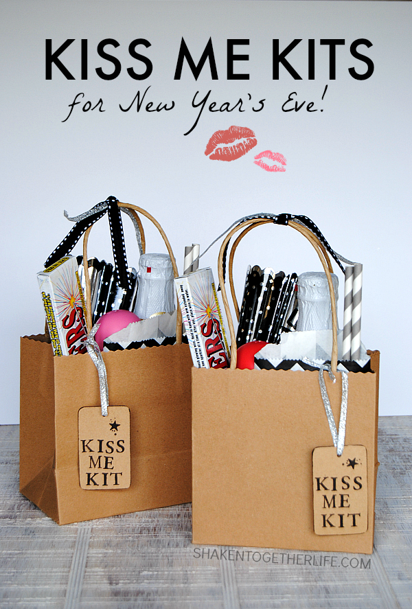 Kiss Me Kits for New Year's Eve from Shaken Together