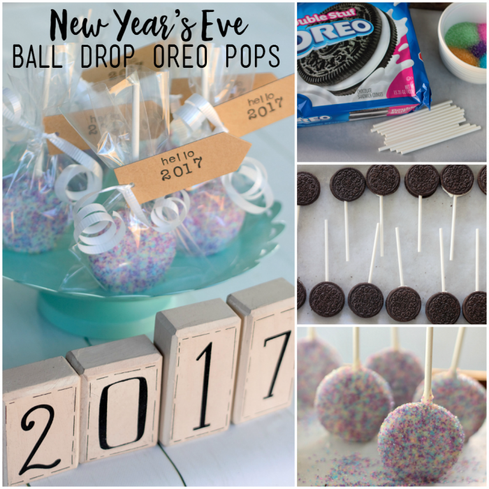 Ring in the new year with these easy no-bake Ball Drop Oreo Pops! Eat the at midnight as the ball drops in New York City!