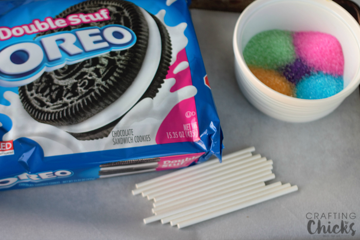 Ball Drop Oreo Pops start with basic supplies from your kitchen!