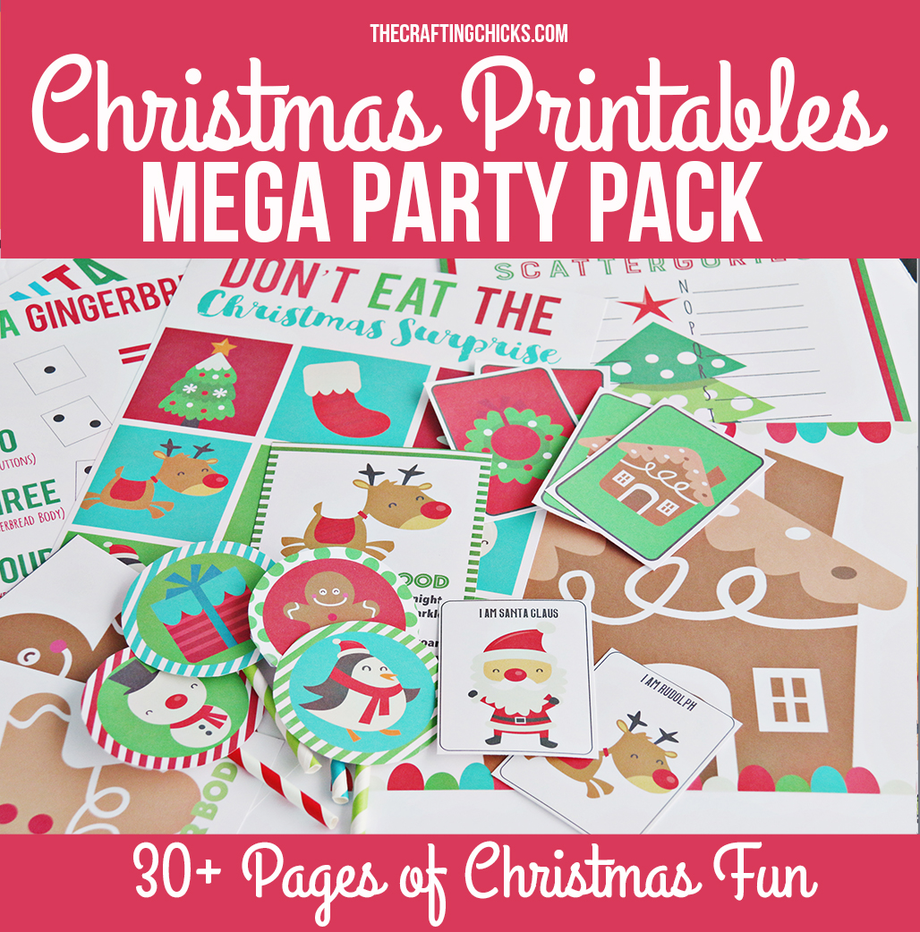 Christmas Printable Mega Pack is the best way to bring in the Christmas Spirit and keep the kids busy during Christmas break. This pack has it all.