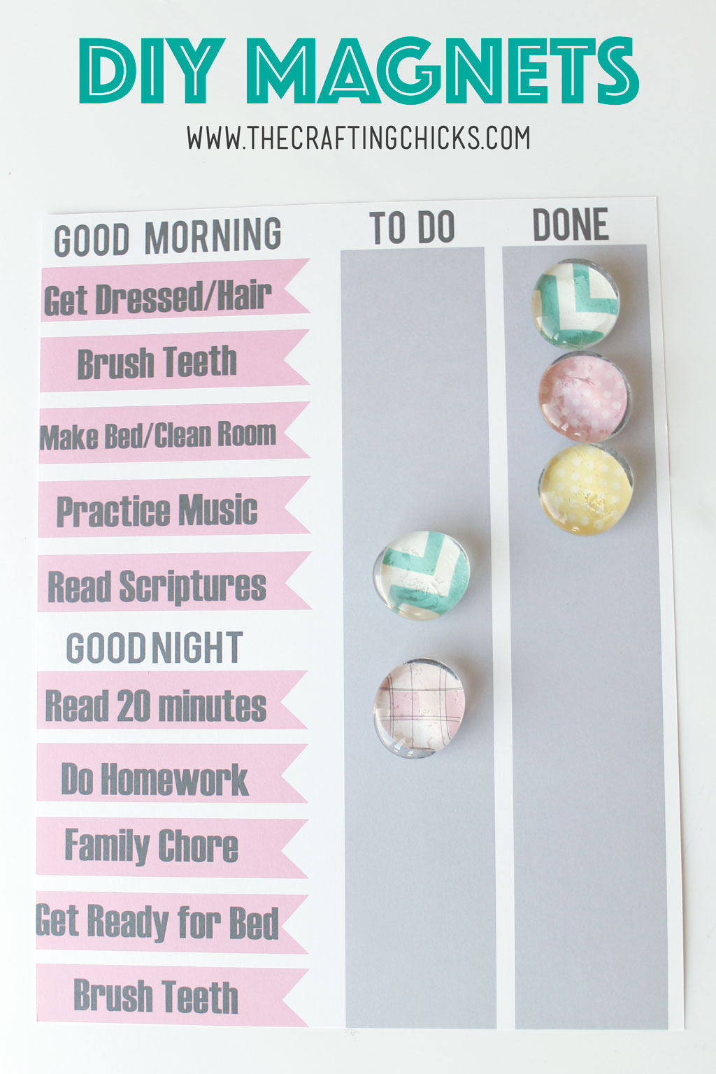 DIY Magnets | Chore Charts | Job Charts | Fridge Magnets