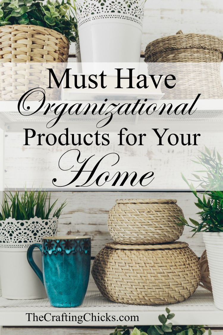 Must Have Organizational Products for Your Home. Make this dreaded chore easier with a list of our favorite organizational products.