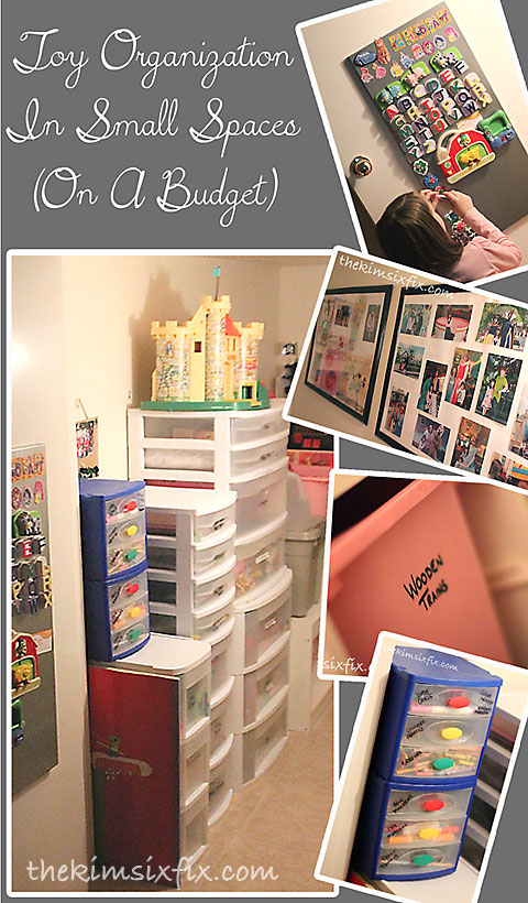 Kids toys and playroom organization the crafting chicks - Small space organizing collection ...