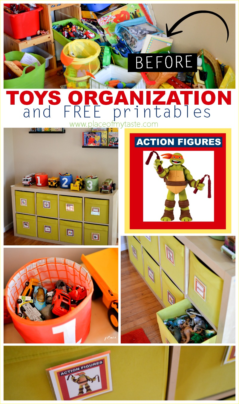 Kids, Toys and Playroom Organization - Storage ideas for kid's rooms, the art corner, legos, games, school papers, kids clothes, games and toys!
