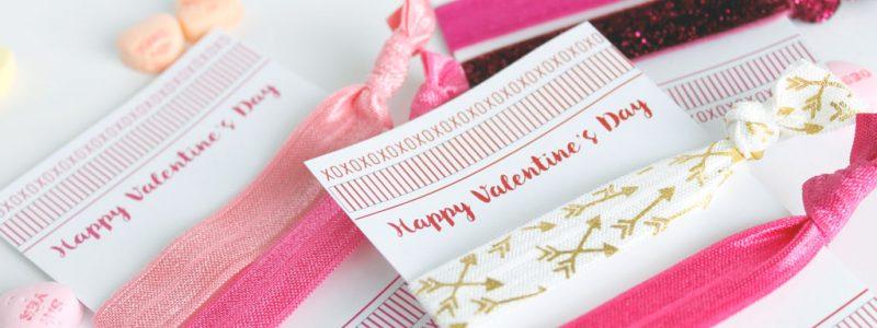 Valentine Elastic Hair Tie Cards