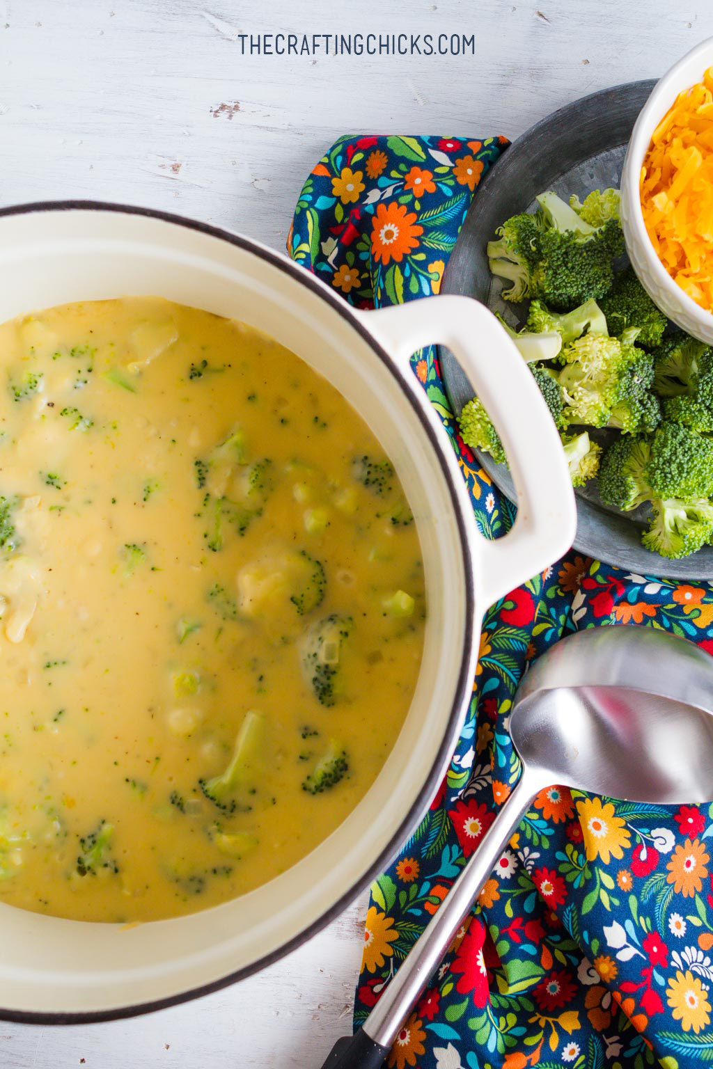 Broccoli Cheese Chowder Recipe -  You only need a few ingredients and just 3o minutes!