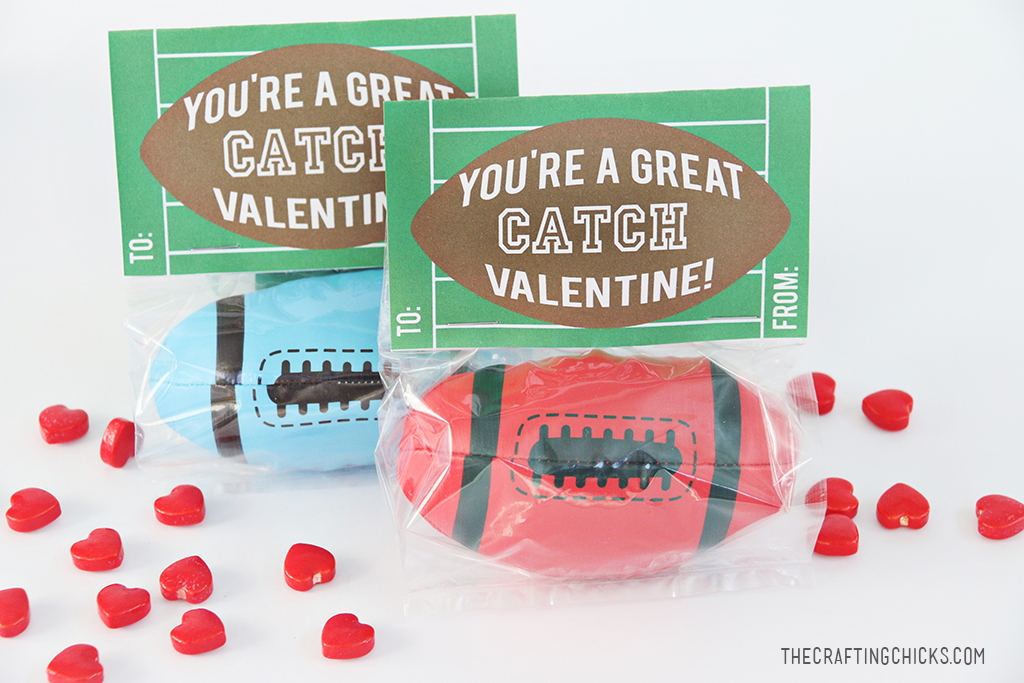 Football Valentine Printable - A fun non candy class Valentine for a sports loving kid to give!
