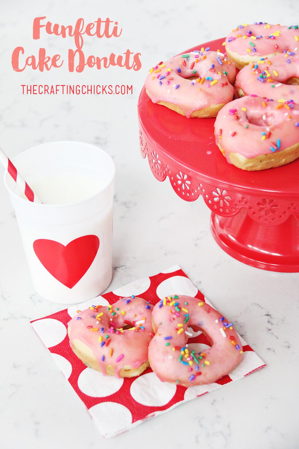 Funfetti Cake Heart Donuts