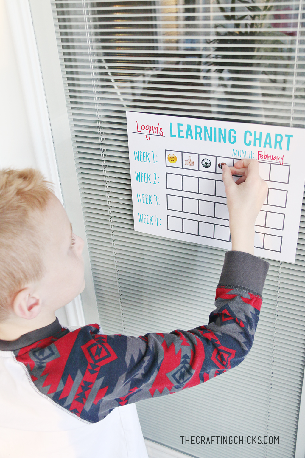 Learning Tracking Chart - A great way to track progress, and celebrate learning achievements at home!