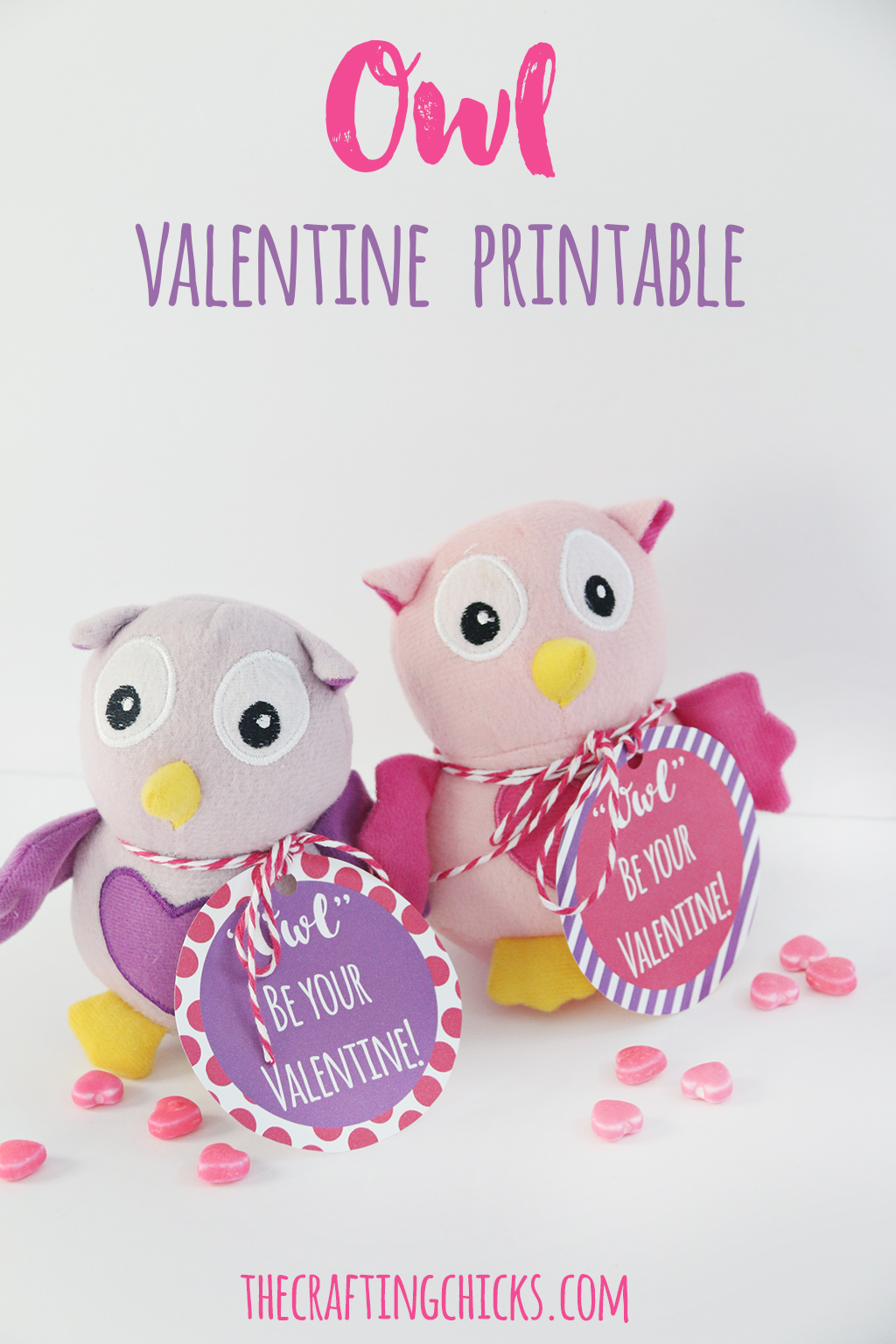 Owl Valentine Printable - A simple non candy class Valentine