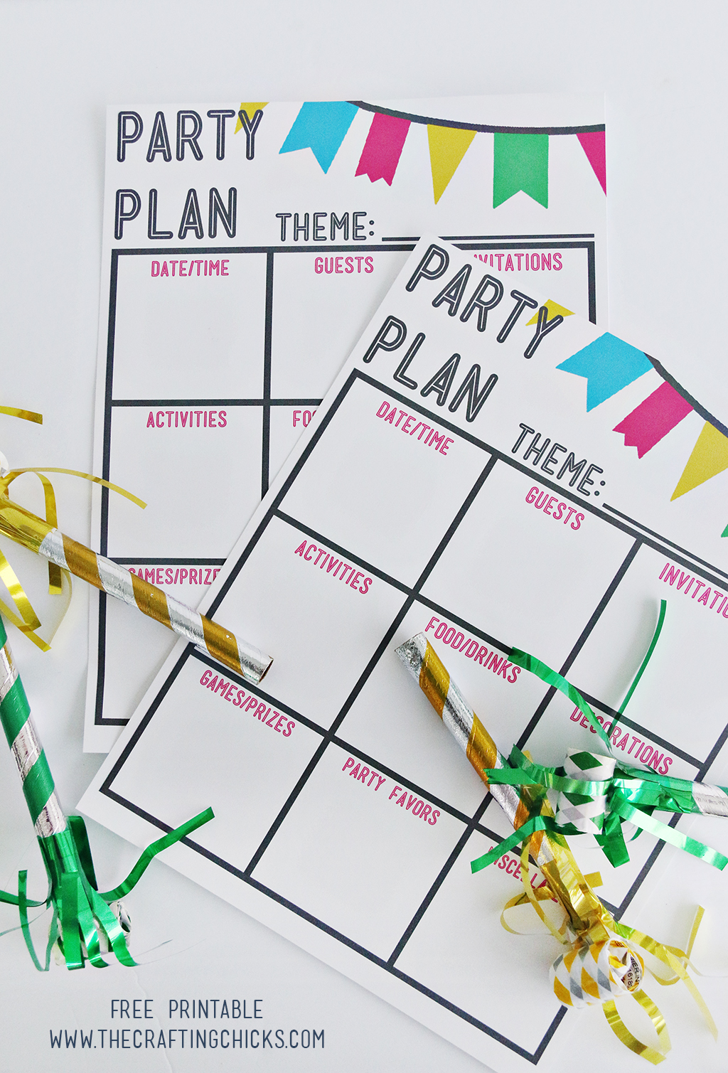 Party Plan Printable and party planning tips!