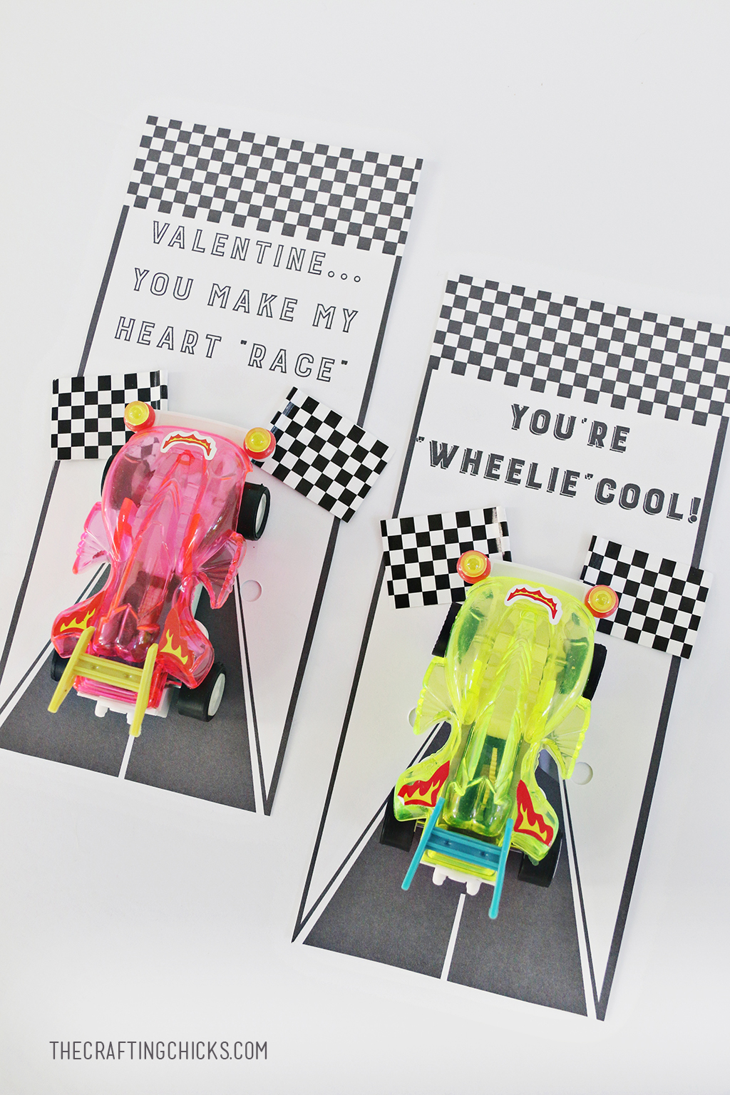 Race Car Valentines - A fun non candy class Valentine