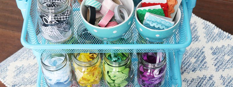 Ribbon Organization Cart