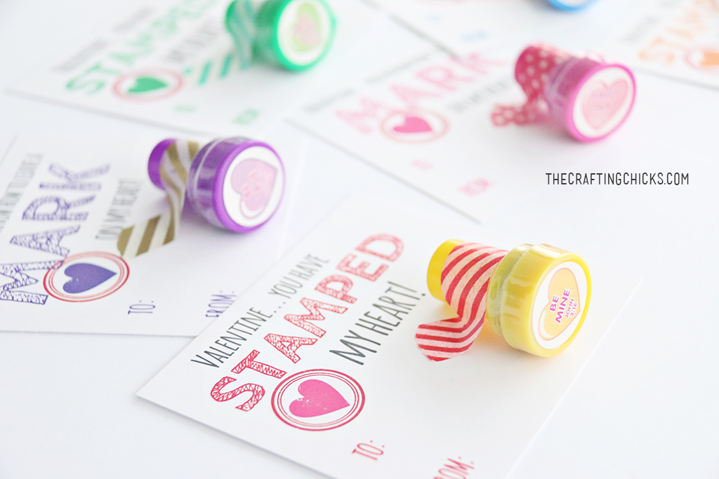 Stamp Valentine Printables - A fun non candy class Valentine!