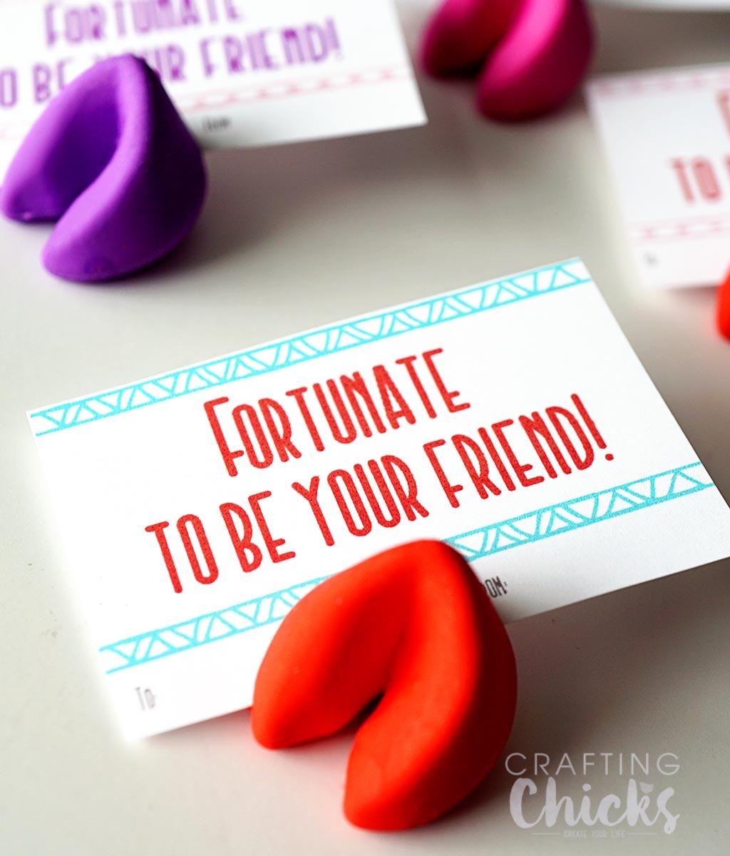 Fortune Cookie Valentine Printable - A fun valentine gift idea.