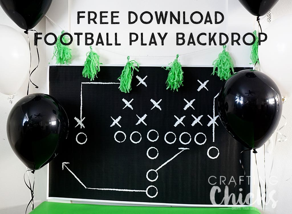 football play backdrop
