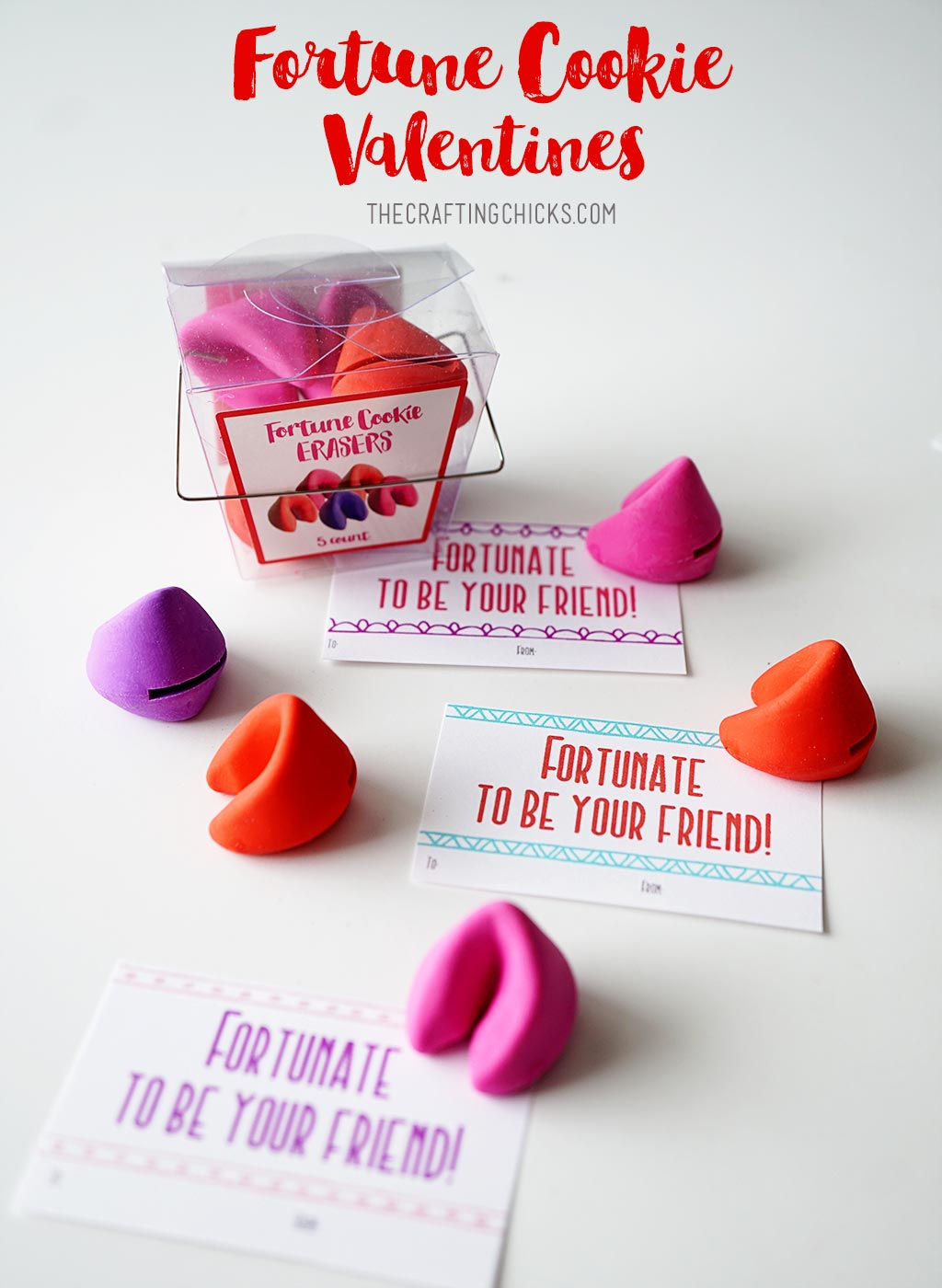 Fortune Cookie Valentine Printable - A fun valentine gift idea.