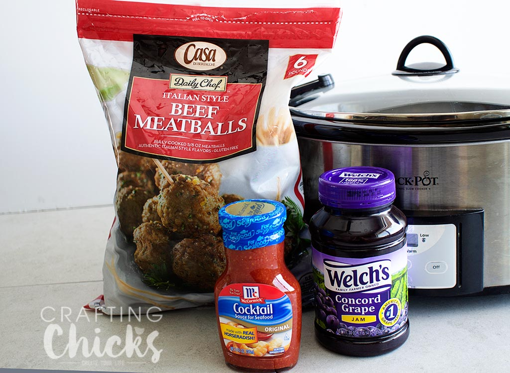 3 ingredient supberbowl meatballs