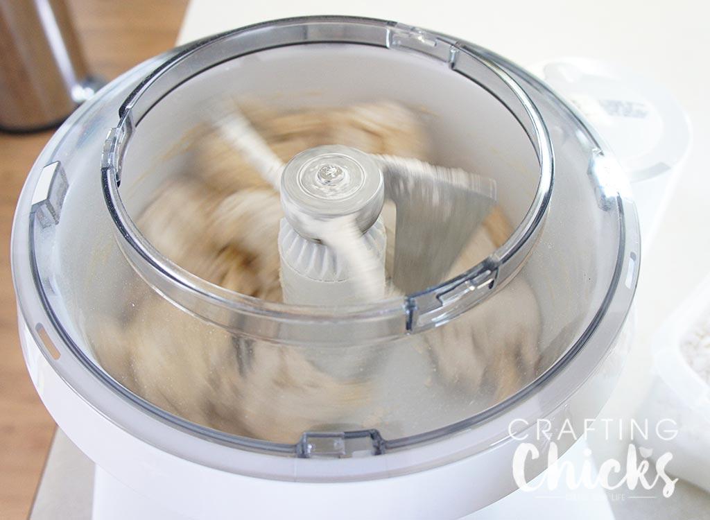 Mixing Roll Dough