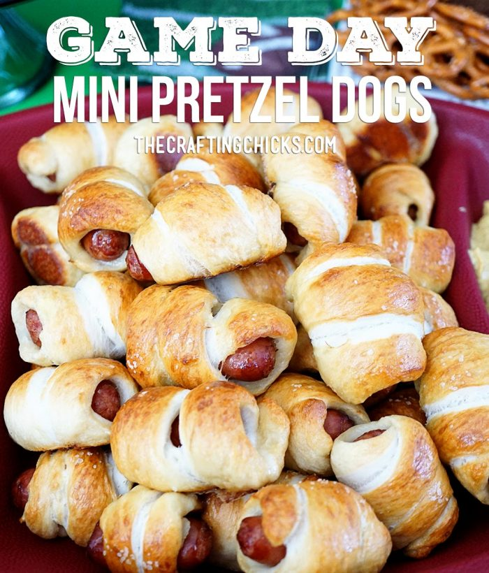 Game Day Mini Pretzel Dogs