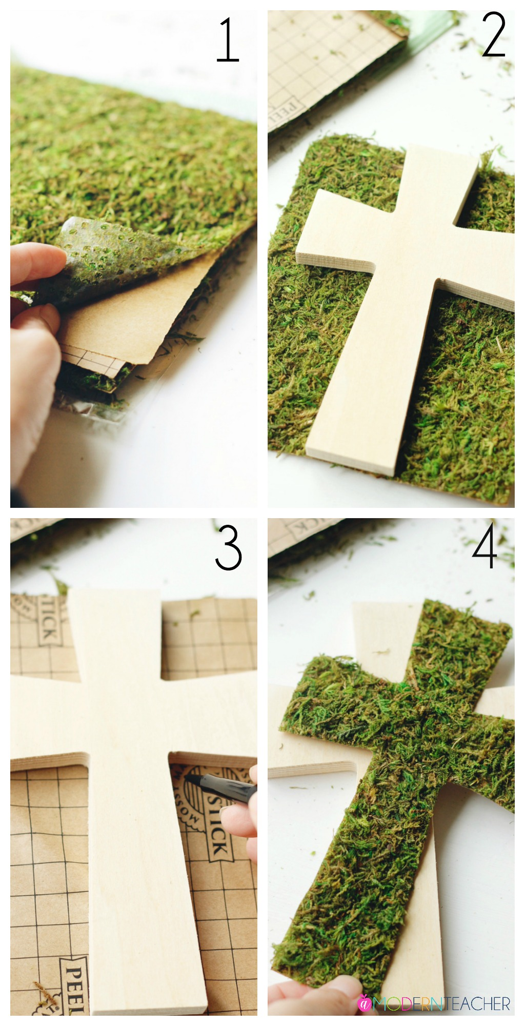 DIY Easter Cross