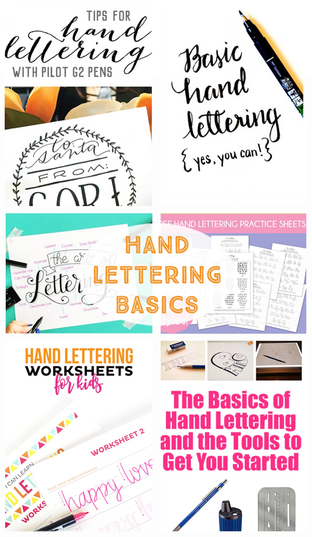 Hand Lettering Tutorials - How to start hand lettering, tutorials, printables, tips, tricks and practice sheets.