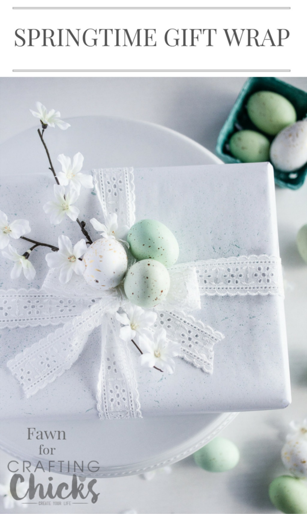 springtime gift wrap idea