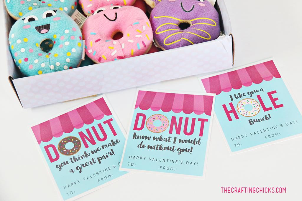 Donut Valentine Printables - The Crafting Chicks