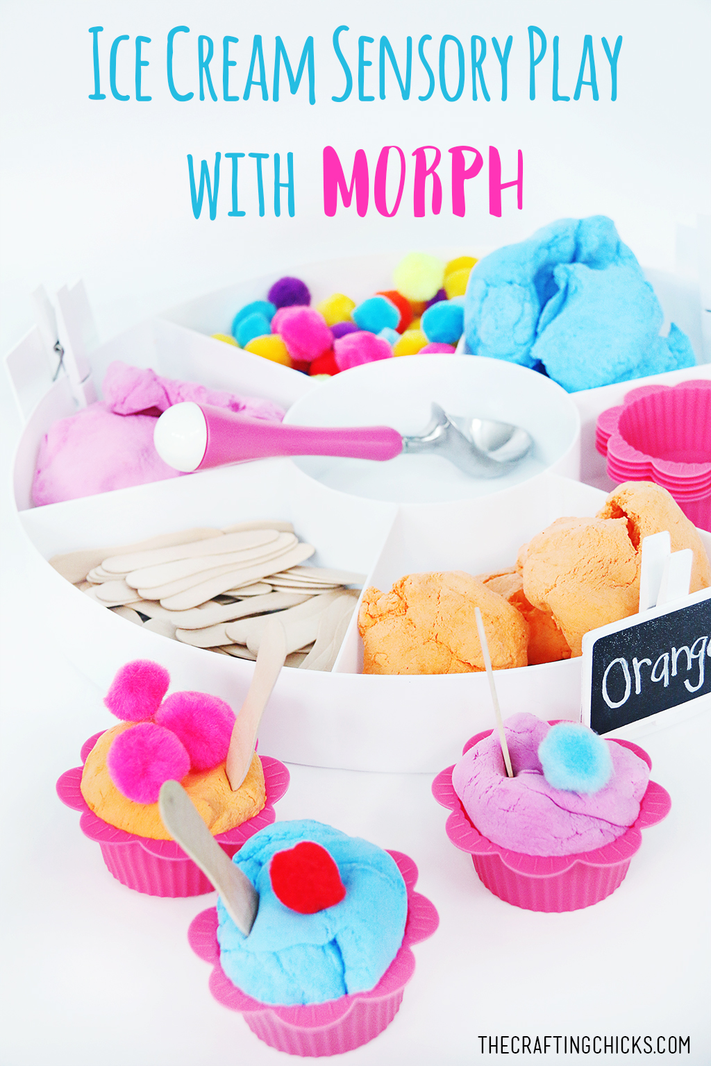 Ice Cream Sensory Play with Morph - A fun and SWEET way to encourage hands-on sensory and creative play!