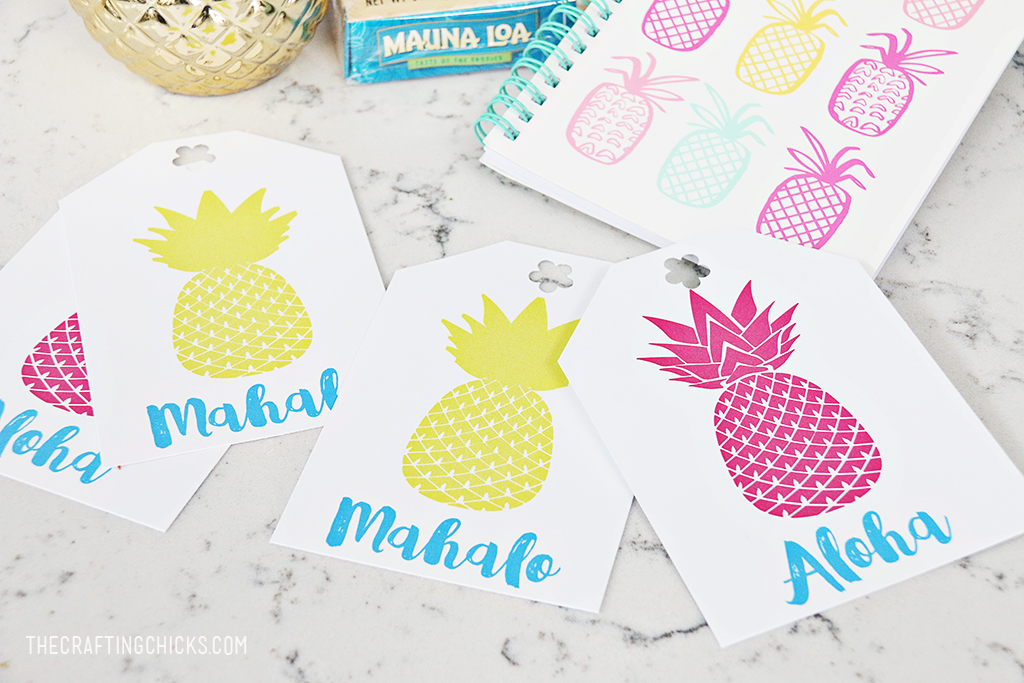 Printable Pineapple Gift Tags - Add these darling tags to any pineapple gift