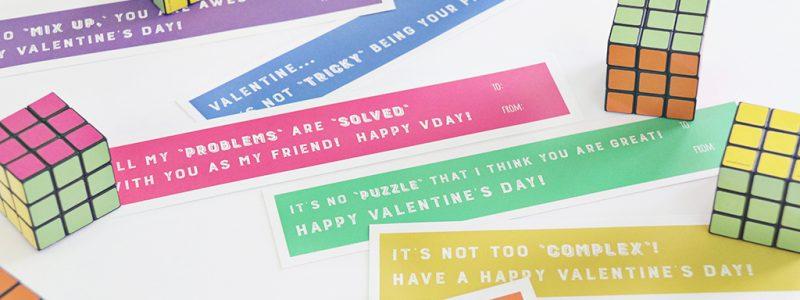 Rubix Cube Valentine Printables