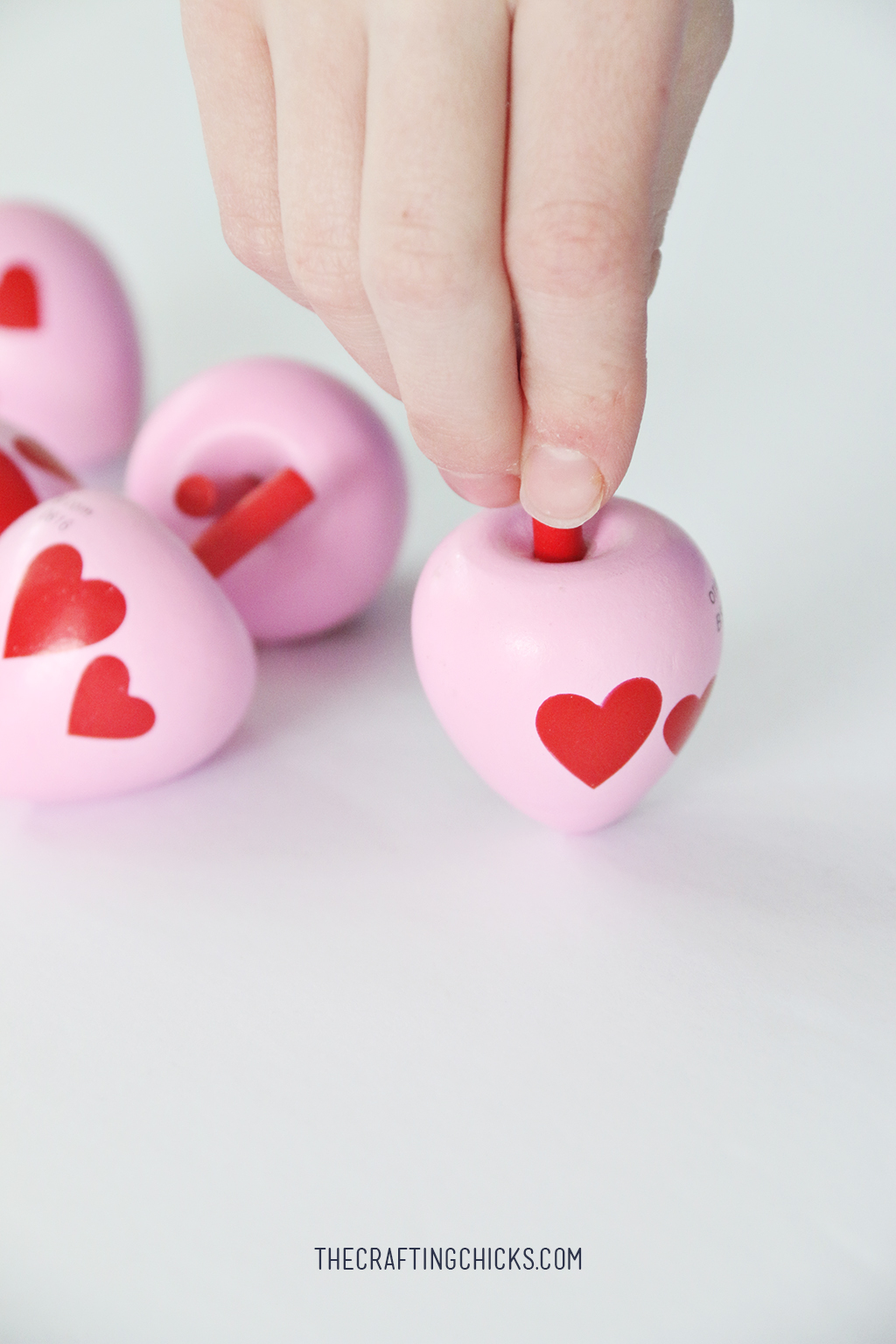 Toy Spinning Top Valentine Printable The Crafting Chicks