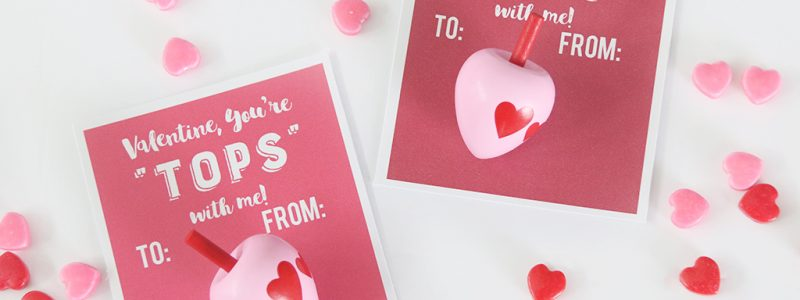 Toy Spinning Top Valentine Printable