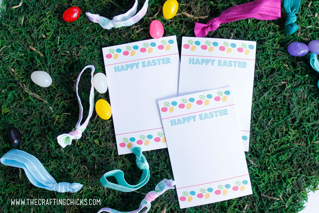 Easter Hair tie cards