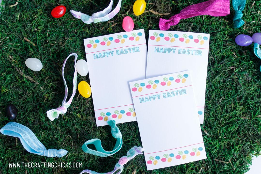 Easter Hair tie cards