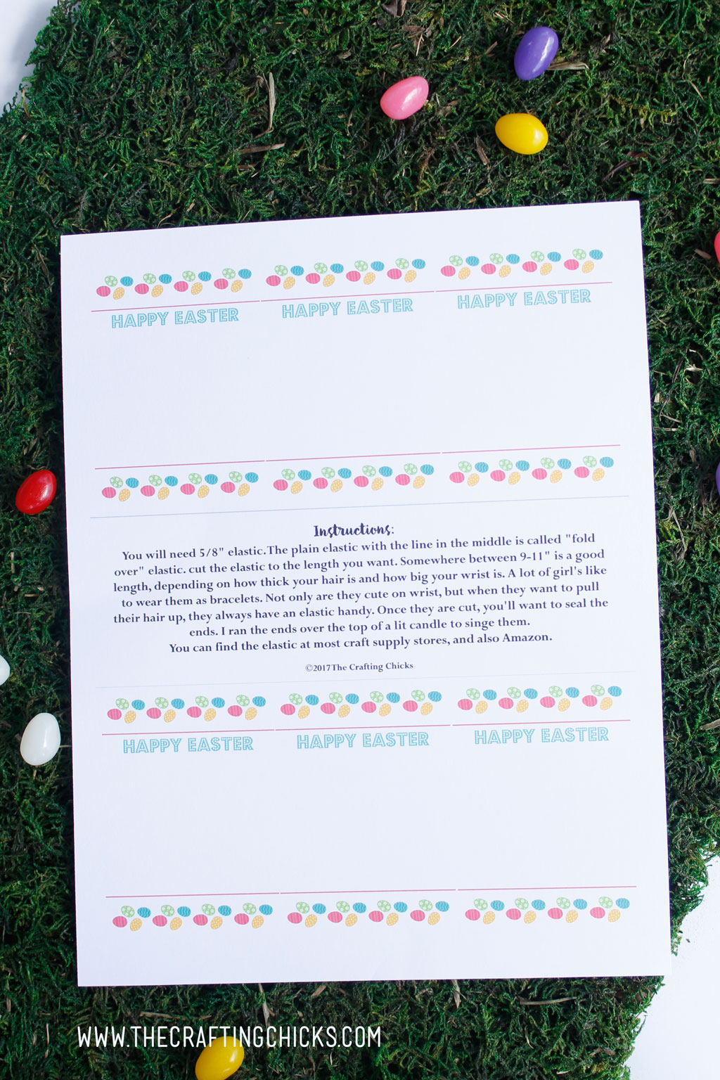 Easter Hair ties printable