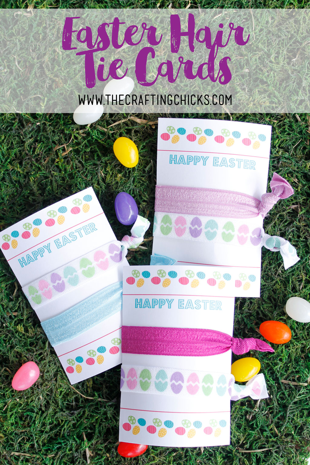 Easter Elastic Hair Tie Cards