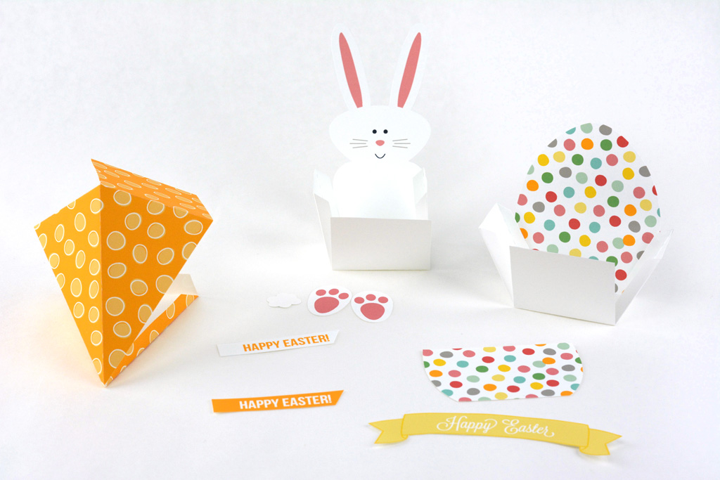 easter treat boxes folded
