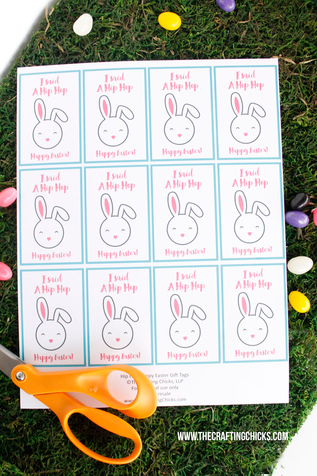 Hip Hop Happy Easter Gift Tag Printable