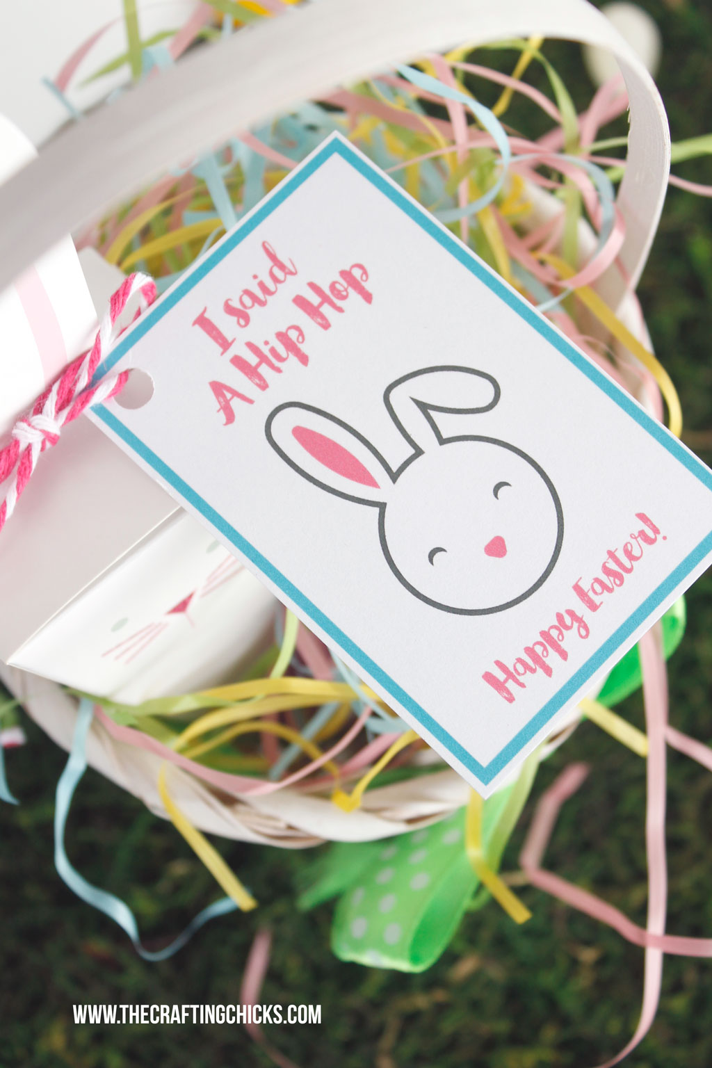 Hip Hop Happy Easter Gift Tag