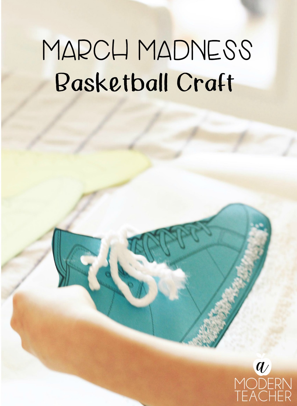 Easy and fun basketball craft for the kids! After reading Salt In His Shoes, kids will have fun completing the craft activity before the big game.