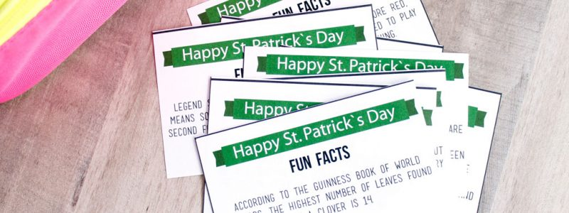 St Patricks Day Lunchbox Fun Facts