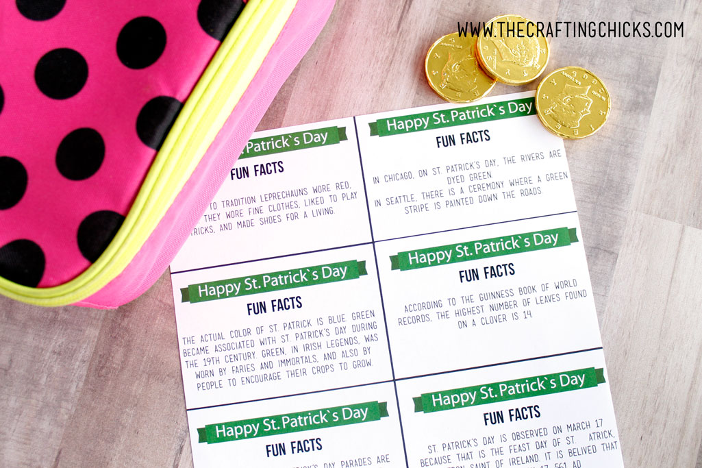 St Patrick's Day Lunchbox Fun Facts