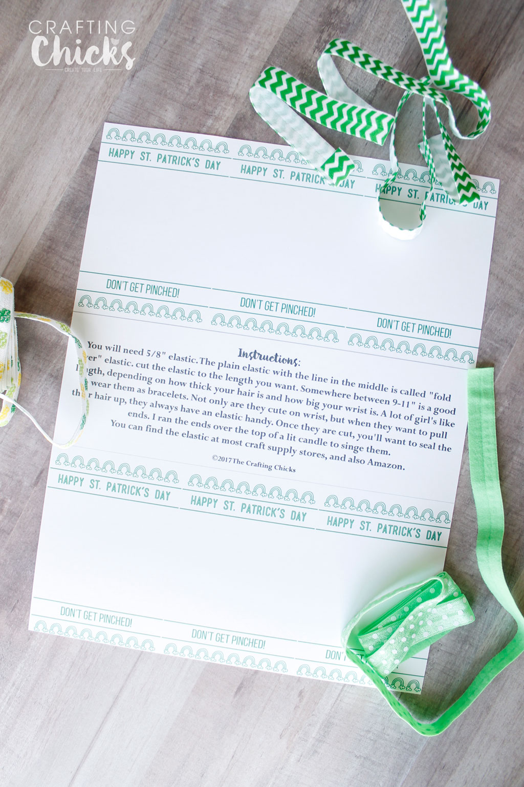 St. Patricks Hair Ties Printable