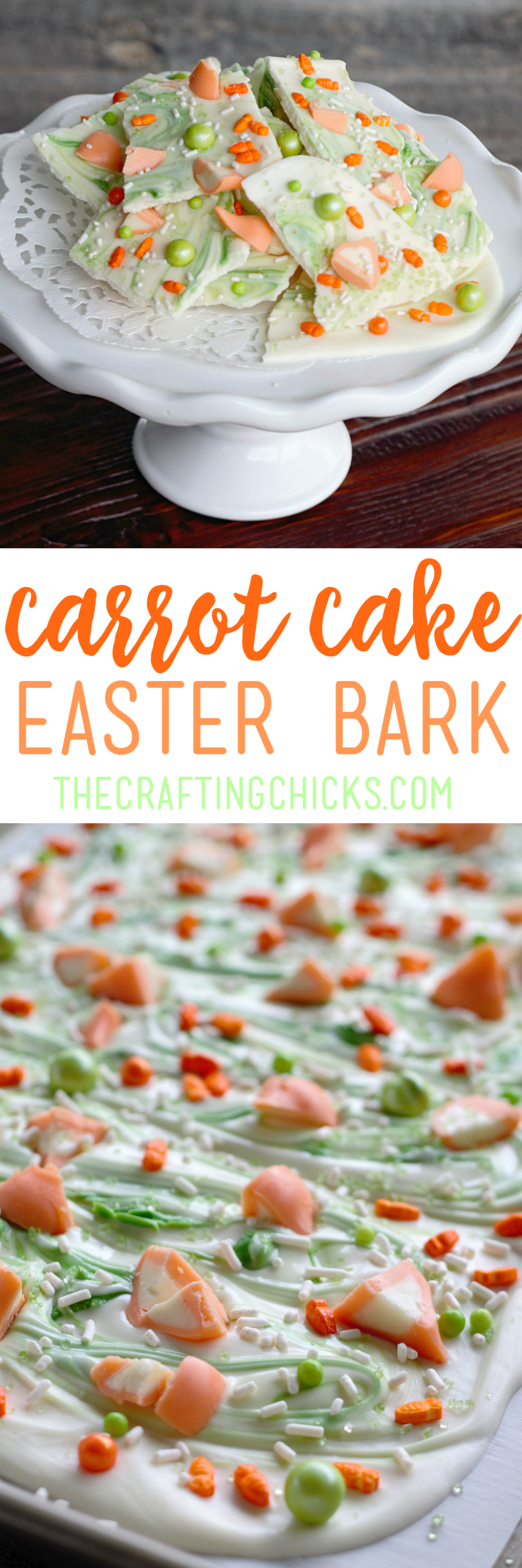 Carrot Cake Easter Bark is an easy, no-bake Easter dessert that is perfect to make with the kids!