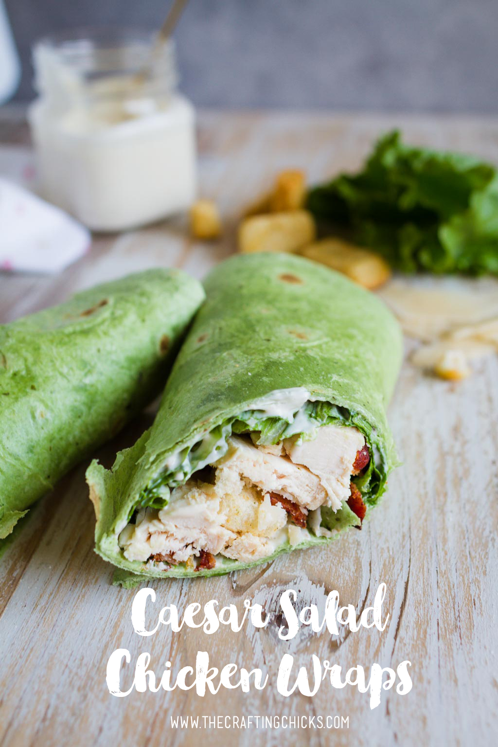 Casear Salad Chicken Wrap