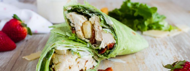 Caesar Salad Chicken Wraps
